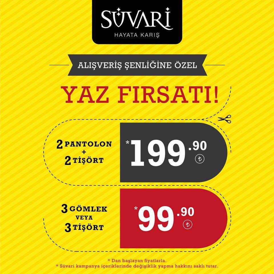 SÜVARİ Alışveriş Şenliğine Özel Yaz Fırsatı!