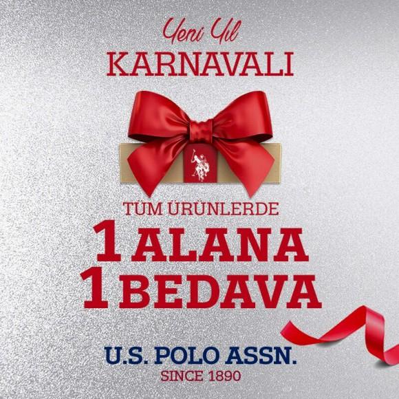 Yeni yıl karnavalı U.S. Polo Assn.'da tüm ürünlerde 1 alana 1 bedava!