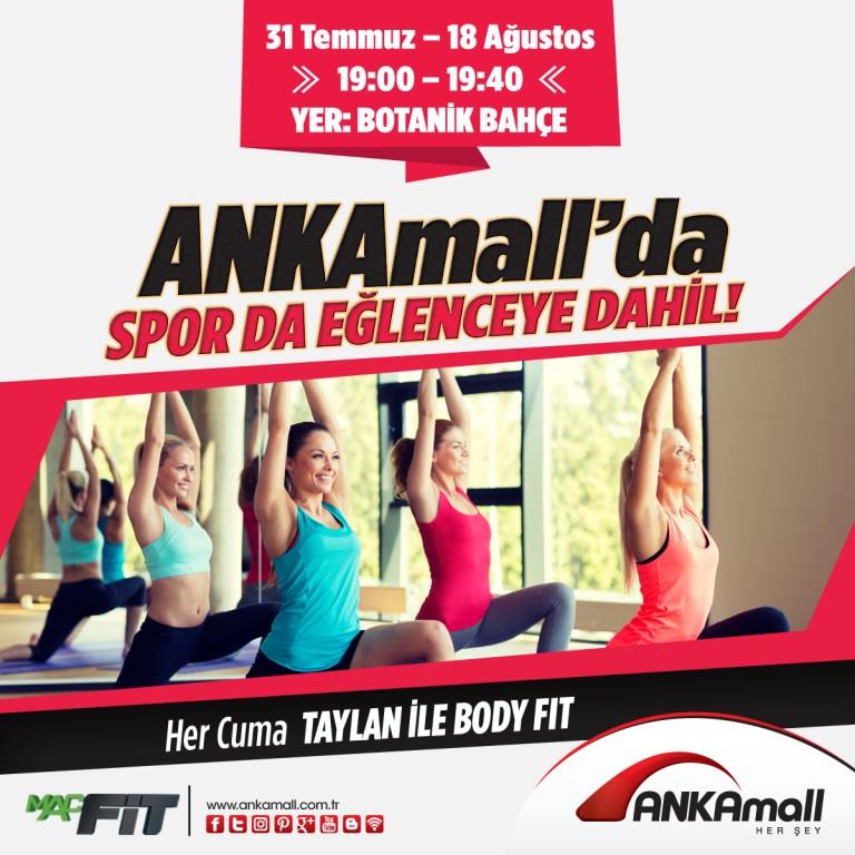 ANKAmall'da Spor da Eğlenceye Dahil Her Cuma Taylan ile Body Fit!
