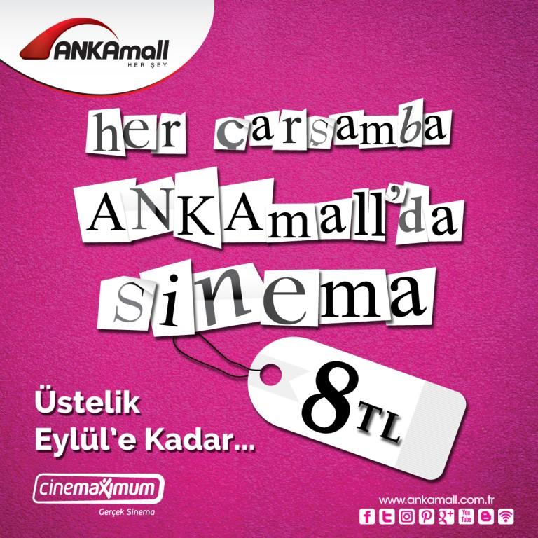 Her Çarşamba ANKAmall'da Sinema 8 TL...
